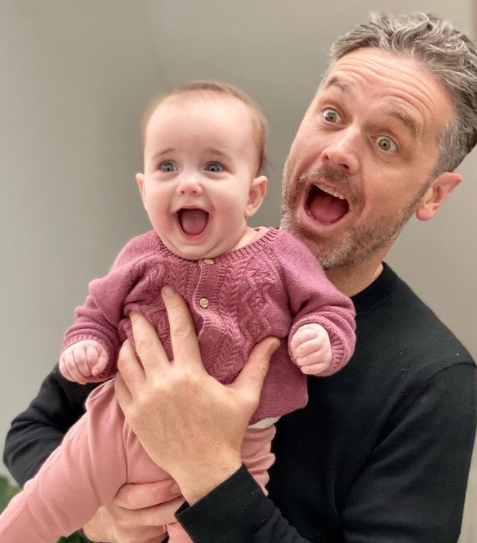 Jock and nine-month-old daughter Isla