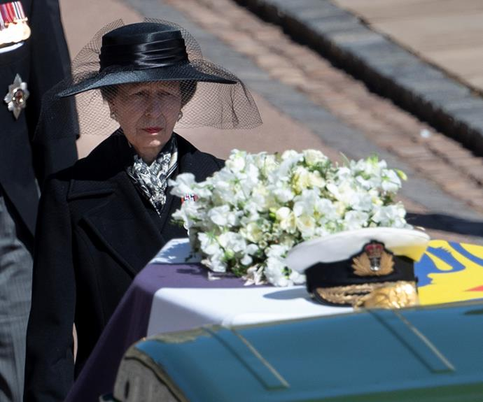 """Though it was a devastating occasion, Princess Anne had another defining moment at the funeral of her father, Prince Philip, in April 2021. She was the only woman to walk in the official royal funeral procession and held her composure throughout the sombre ceremony in honour of the Duke of Edinburgh.  <br><br> Anne and her father shared a special bond from her childhood. When the princess royal was born, Philip was reported to have told people """"it's the sweetest girl"""" of his daughter. They remained close until his death, when Princess Anne honoured him by saying life would be """"completely different"""" without him."""