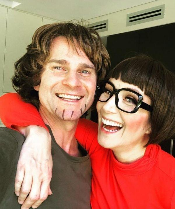 """It's no surprise David and Lisa like to dress up together, given their theatre roots. This Halloween costume is sure to go down in history as one of their best!  <br><br> """"Shaggy 💖s Velma,"""" the presenter captioned his post, showing off their *Scooby Doo* ensembles."""