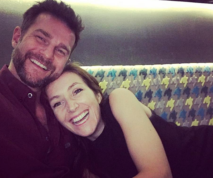 """After briefly separating due to work commitments, David posted this picture on his Instagram to commemorate their imminent reunion.  <br><br> """"One more sleep. Can't wait to have her back in my arms again,"""" mused David."""