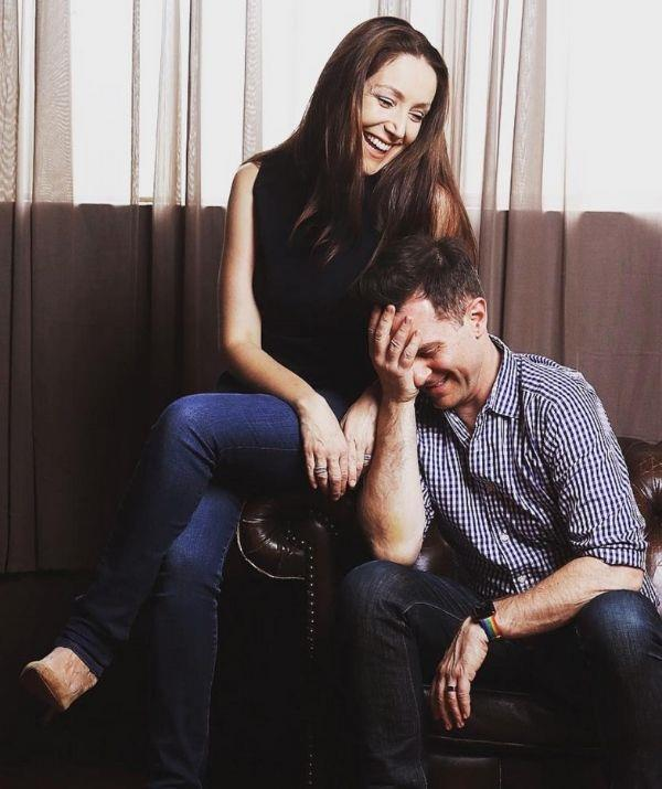 """David took a moment to gush about his wife and her incredible sense of humour on his Instagram. <br><br> He wrote, """"I love this photo of Lisa and I. It says so much about us. We laugh everyday. She is so funny and so amazing. After all these years and children, Lisa is still laughing...mainly at me though."""""""