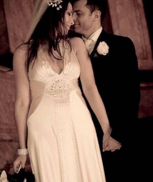 David and Lisa looking loved up as ever on their wedding day in 2008.
