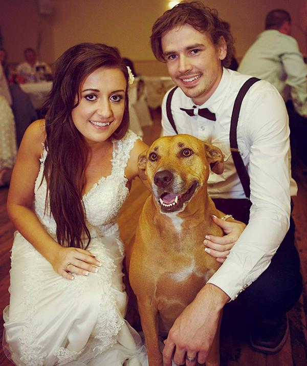 Kirsty and Jesse on their wedding day.