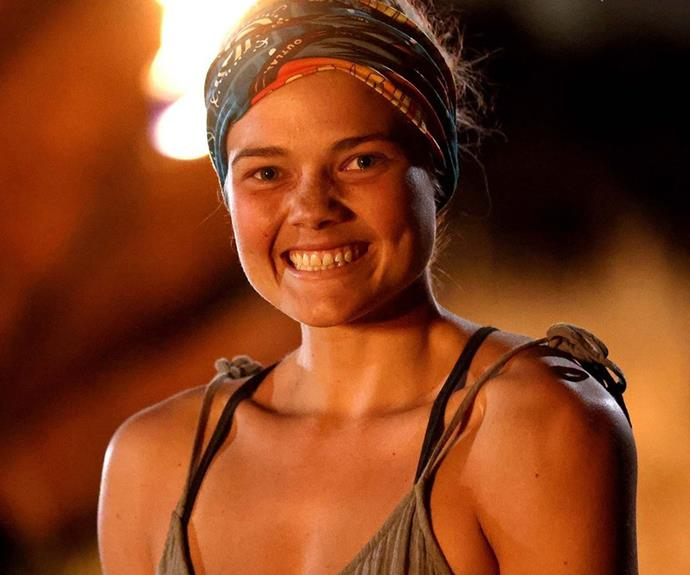 """**Kez, Fire tribe - Episode 13** <br><br> The two tribes have merged into the new Fire tribe and the first castaway eliminated was Kez. In a shocking blindside at tribal council, the old members of Brawn tribe were gunning for Laura, but Hayley played her immuntiy idol for Laura. That meant that the majority of votes didn't count, and Kez was sent packing with just three votes. <br><br> Taking to Instagram after her shock elimination aired, Kez wrote: """"'What did I just do?!' was one of the first things I said when I walked out of tribal followed by 'Lets go get burgers' 🍔. But man survivor was the wildest and most rewarding thing I have ever experienced."""""""