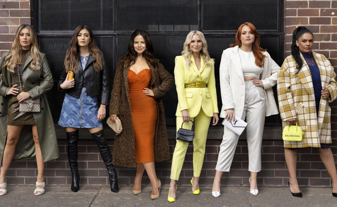 From left to right: Gemma Forsyth, Francesca Hung, Tammin Sursok, Sophie Bloom, Brooke Lee and Lisa Flanagan.