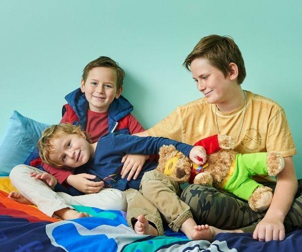 Louise's three boys, Oliver, Jack and Joshua. (Photo by Clair Negri)