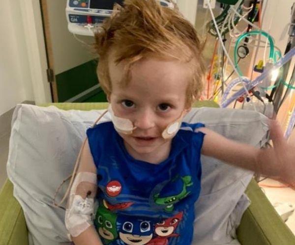 Jack in hospital. (Image: supplied)