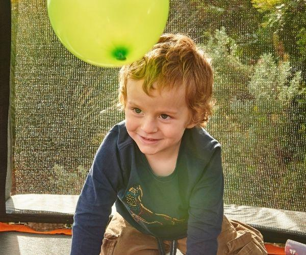 Jack on his trampoline. (Image by Clair Negri)