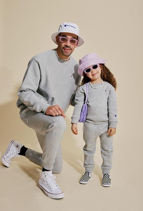 """**For the matchy-matchy dad:** Champion have also just released their first-ever toddler capsule collection so you can match with your mini! The oh so cute range features hoodies, crews and trackies in blush, grey, black and red. We don't blame you if you throw in a cheeky matching set for yourself, too.  <br><br> *Champion's Toddler Collection, [shop it here](https://www.champion.com.au/junior/collections/toddler.html