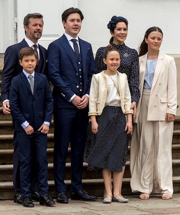 Princess Isabella (right) has inherited her mother's chic sense of style.
