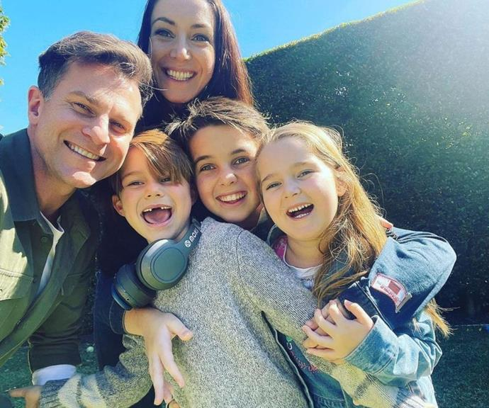 """For David's 48th birthday, he shared this picture of his family, and in his caption, he revealed they are his most important people.  <br><br> """"48. Feeling gr8! Surrounded by the most important people in my life. So lucky. Thanks for the Bday messages. DC,"""" he wrote."""