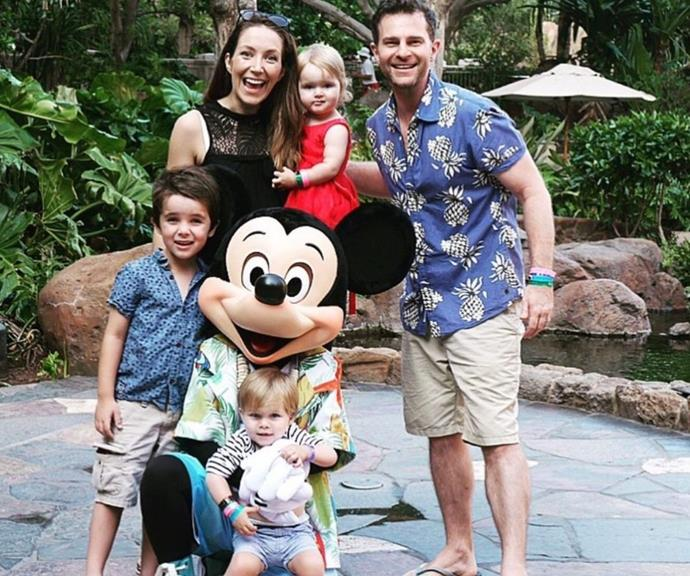 """Disney land is a dream gift for children around the world, and from the tone of David's Instagram post, it appears he had just as much fun. <br><br> """"#throwbackthursday 5 years ago. Breakfast with Mickey in Hawaii. Look how little the kids are. One day we will get back 🤞🏻,"""" write the singer."""