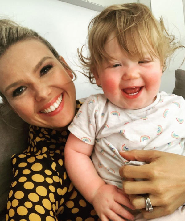 Edwina, pictured with 18-month-old daughter Molly, is expecting her second child.