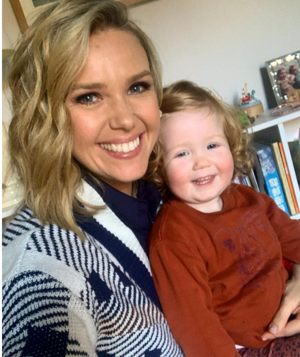 The Sunrise host reveals she's been using peanut butter to curb morning sickness.