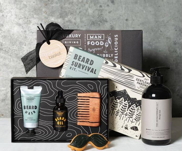 """**[Gourmet Basket Beard Hamper](https://fave.co/3ghP7rh