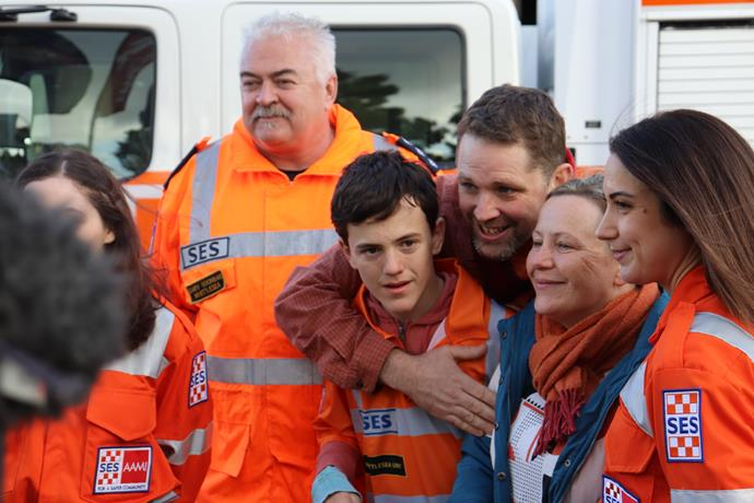 Reuniting with the SES was a special moment for all