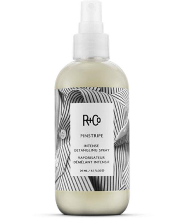 """This detangling spray is lightweight, encourages shine, and will hydrate stubborn hair. <br><br> Shop R+Co Pinstripe Intense Spray, $36.00 from Adore Beauty [here.](https://go.skimresources.com?id=105419X1569321&xs=1&url=https%3A%2F%2Fwww.adorebeauty.com.au%2Fr-and-co%2Fr-co-pinstripe-intense-detangling-spray.html&sref=https%3A%2F%2Fwww.adorebeauty.com.au%2Fr-and-co%2Fr-co-pinstripe-intense-detangling-spray.html