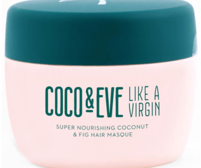 """Coco & Eve's mask is a hydrating product that will help free your hair from split ends.  <br><br> Shop Coco & Eve Super Nourishing Coconut and Fig Hair Masque, $57.90 from Adore Beauty [here.](https://go.skimresources.com?id=105419X1569321&xs=1&url=https%3A%2F%2Fwww.adorebeauty.com.au%2Fcoco-and-eve%2Fcoco-and-eve-super-nourishing-coconut-and-fig-hair-masque.html&sref=https%3A%2F%2Fwww.adorebeauty.com.au%2Fcoco-and-eve%2Fcoco-and-eve-super-nourishing-coconut-and-fig-hair-masque.html