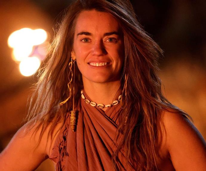 """**Laura, Fire tribe - Episode 17** <br><br> After facing elimination a few times this season, Laura was finally sent home with just one vote against her name. After George played a hidden immunity idol to save Cara at tribal council, Laura was the one left on the chopping block. <br><br> """"Torched is officially snuffed.🔥 What a wild ride. 35 days sleeping in the dirt, being absolutely filthy- it's definitely time for a shower 🚿"""" she wrote on Instagram after being eliminated."""