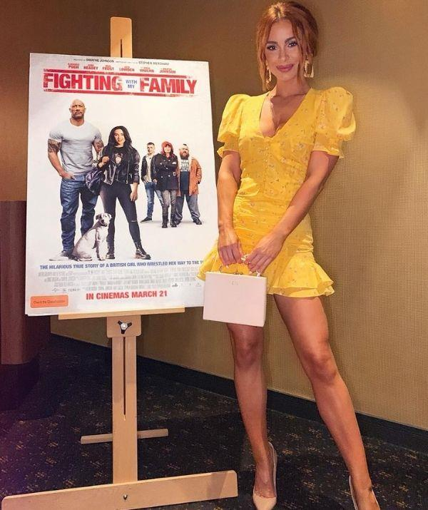 Ellie at a screening of Fighting With My Family.