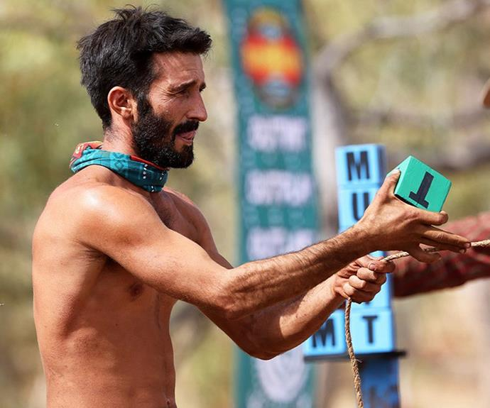 """**Andrew, Fire tribe - Episode 19** <br><br> And then there were six! Andrew predicted he'd be eliminated early in the episode, when he realised George and Cara were playing a game of their own and his head was on the chopping block. After receiving the most votes at tribal council, he had a chance to stay in the game by finding a save scroll in one of four urns, but the one he chose was empty and Andrew was sent packing. <br><br> After his elimination, the survival expert took to Instagram and wrote: """"No regrets on how I played the game, but maybe I should have watched the show before going on there Haha."""""""