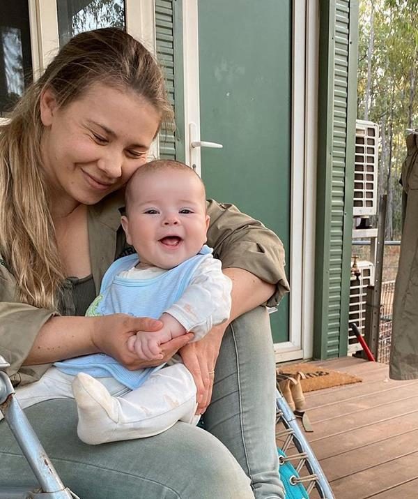 Grace had plenty of cuddles for her mum while they relaxed at the Steve Irwin Wildlife Reserve.