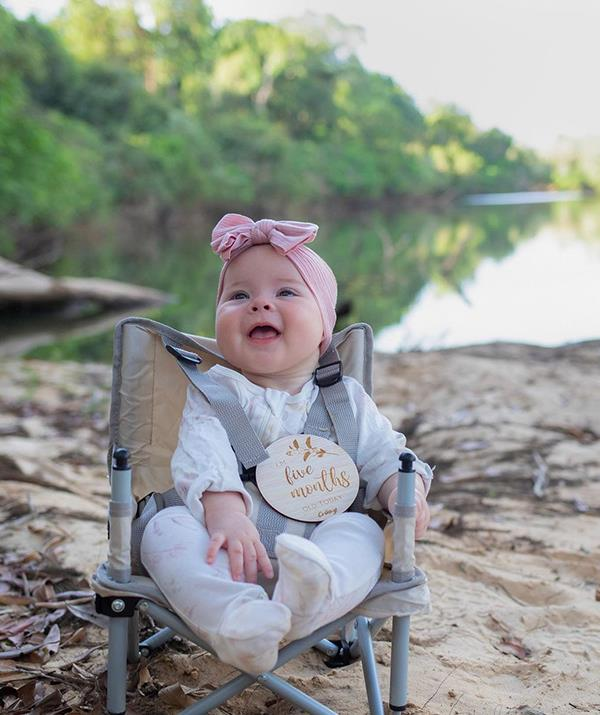 """Speaking of being five months old, Grace marked that particular milestone on the family camping trip. Bindi wrote of the special occasion: """"Our Grace Warrior is 5 months old. ❤️  <br><br> """"She loves being outside on adventures with us, cuddling up to hear a good story, feeling/grabbing everything around her and giggling. Every day she reminds us of the magic in even the simplest of things."""""""