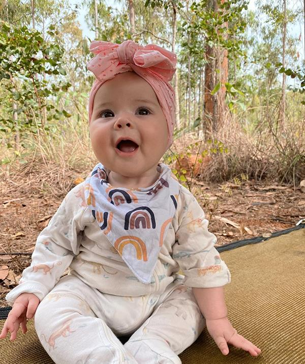 Bindi Irwin has taken her baby daughter Grace Warrior on her first ever family camping trip, and by the look on Grace's face she's loving it! Scroll through to see some of the cutest snaps Bindi has shared from the trip.