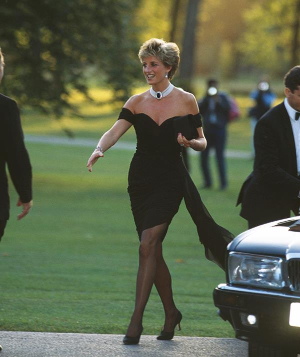 The revenge dress. That's what the world called the little black Christina Stambolian frock Diana wore to a *Vanity Fair* party on November 20, 1994. She wore it on the very evening that Prince Charles made his notorious adultery admission on television, but it was Diana's style that made headlines.