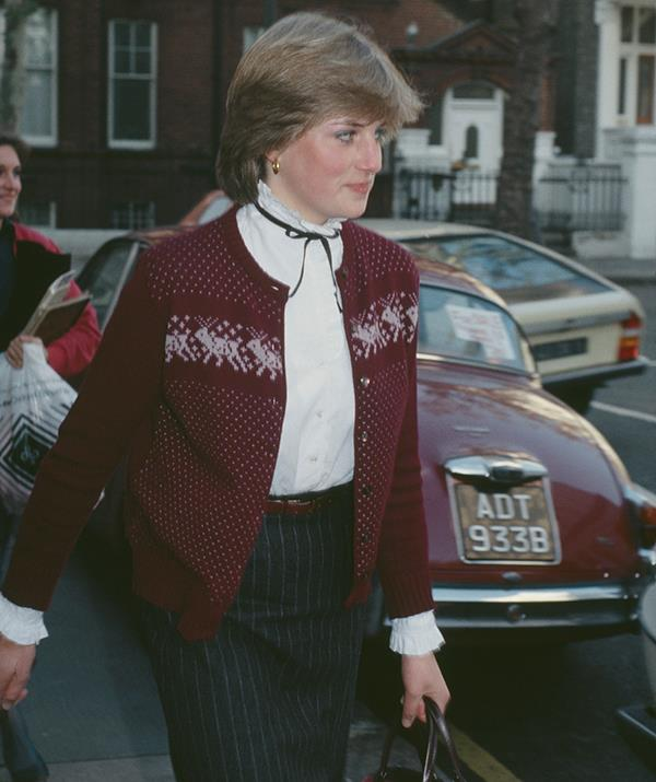 In 1980, the world learned that Prince Charles was off the market and Lady Diana Spencer was his bride-to-be. Everyone wanted to know about Diana and what she was wearing, though at the time her fashion sense was still quite reserved - as seen in this snap from outside her London flat.