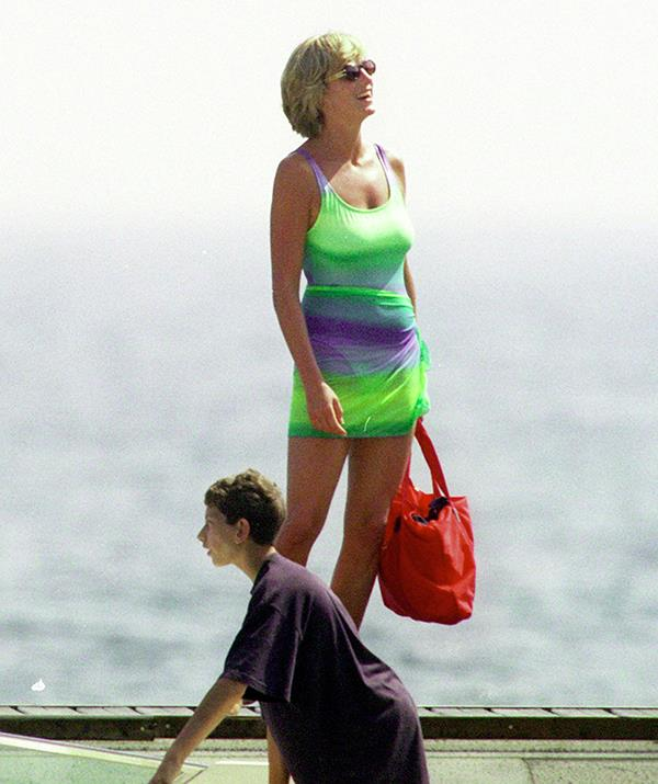 In the summer before her death, Diana was seen wearing a colourful swimsuit and cover-up as she holidayed in St Tropez, France. Looking relaxed and sunkissed, photos of the princess dressed so casually made headlines as she settled into her new life outside of the monarchy.