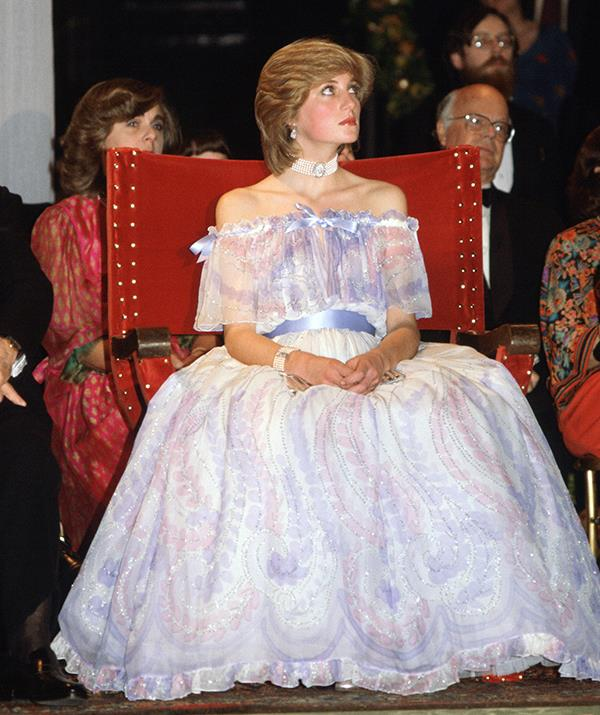 In November of 1981, Diana donned this fairytale gown designed by Bellville Sassoon and wowed fashion lovers everywhere. Not only did her dress make headlines, the very next day she announced she was pregnant with her first child, Prince William.
