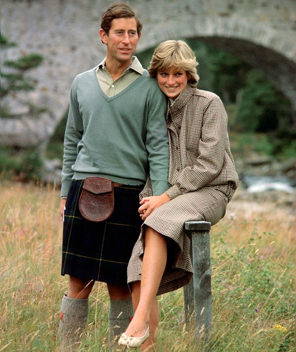 This outfit from Diana's honeymoon with Prince Charles was a unique choice and set a new '80s trend. The tweed suit was designed by Bill Pashley and hinted at a love of tailored suits Diana would embrace in the years to come.