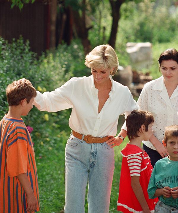 It seems only fitting that one of the last photos ever taken of Diana, Princess of Wales, shows her dressed down in a plain white button down and jeans. Seen here in Bosnia - Herzegovina on August 9, 1997, Diana proved her style legacy wasn't just about expensive gowns and lavish frocks. In fact, it was her more approachable and 'normal' fashion moments that helped make her the beloved 'People's Princess' we all remember today.