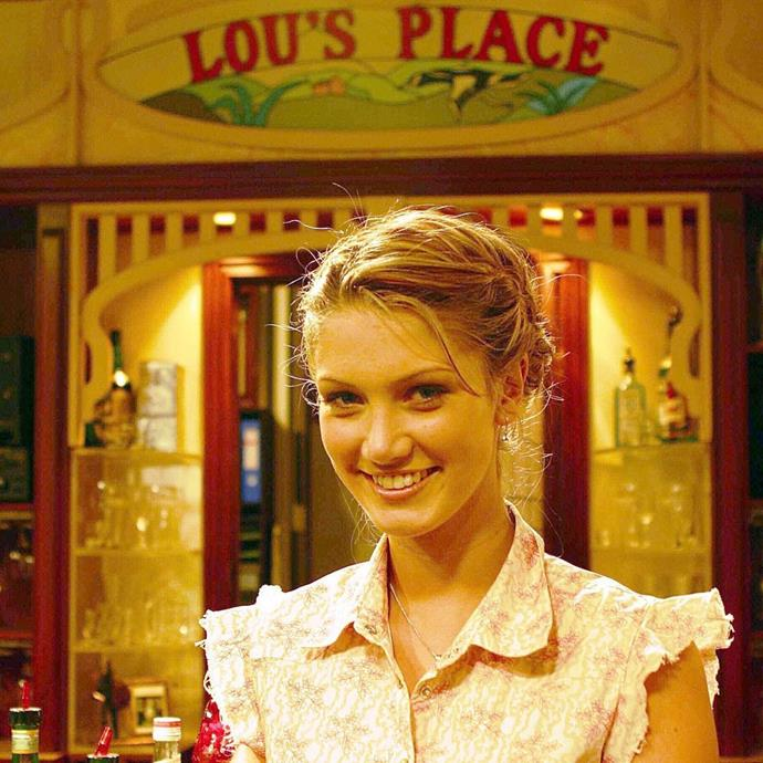 Delta looks so young here in Lou's Place.