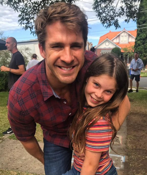 Ben and Ruby Rafter together on-set.