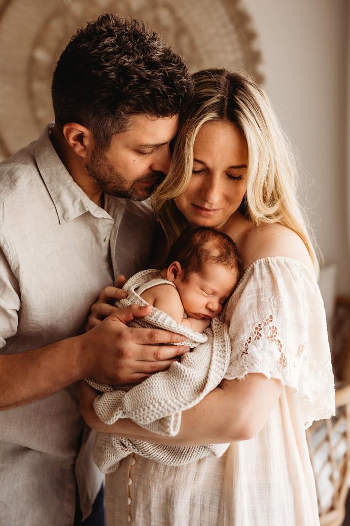 Rachael and Jonny welcomed baby Izaac on March 19