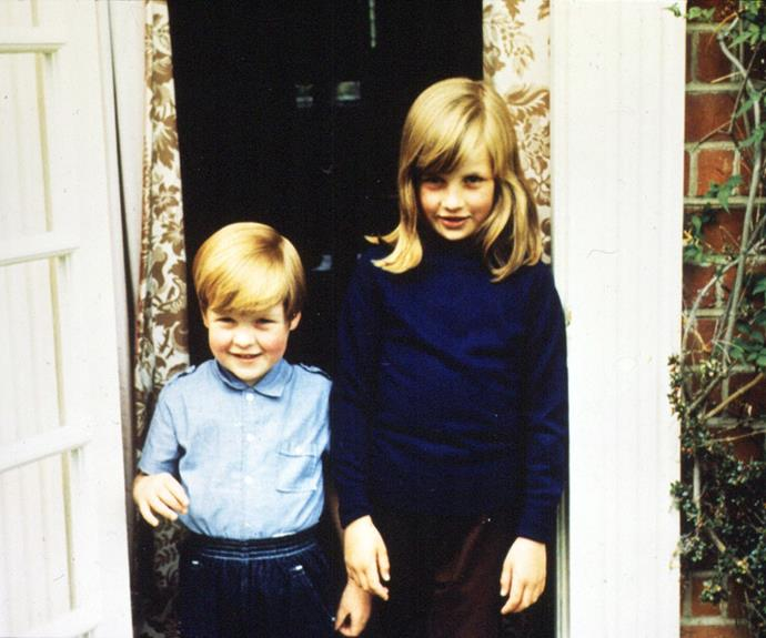 Earl Charles Spencer and Princess Diana as children together.