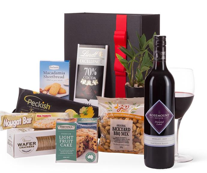 """**[Red wine food hamper](https://fave.co/3By4fZZ