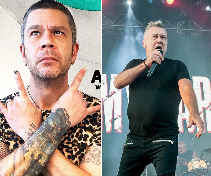 Chrissie says Dylan Lewis (left) is Mullet, but fans think it could be Jimmy Barnes.