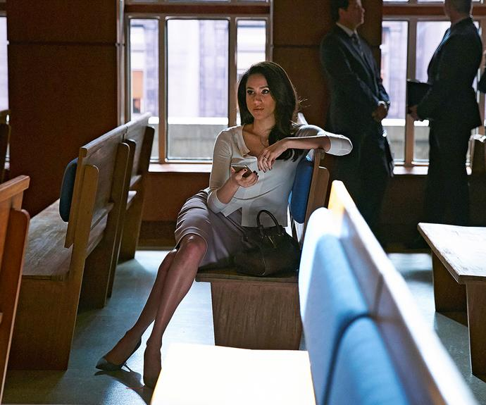 Meghan was still acting on *Suits* when she and Piers first connected.