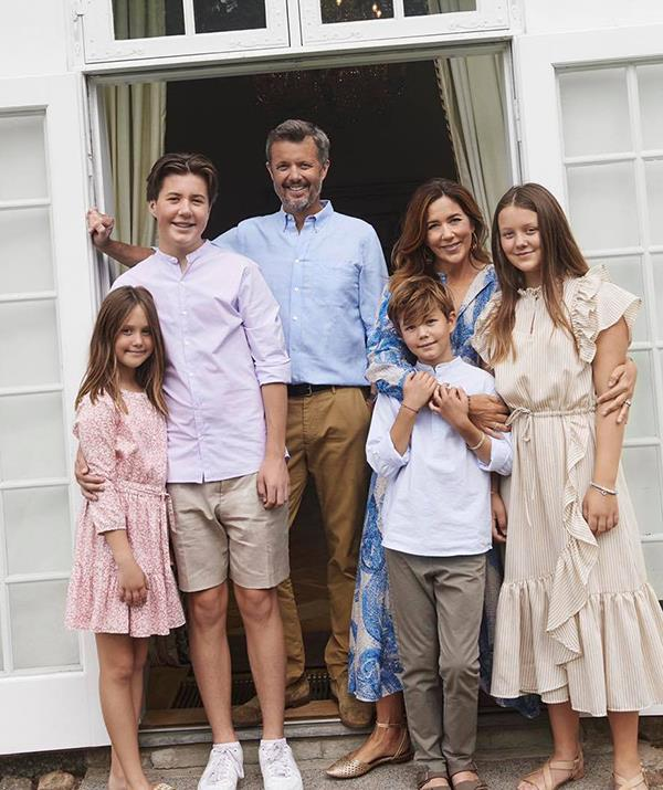 There's no denying that Prince Frederik is one of the proudest royal dads in Europe - just look at the grin on his face in this family snap.
