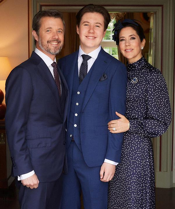 The proud dad wore matching smiles with Mary as their eldest, Prince Christian, marked his religious confirmation in May of 2021.
