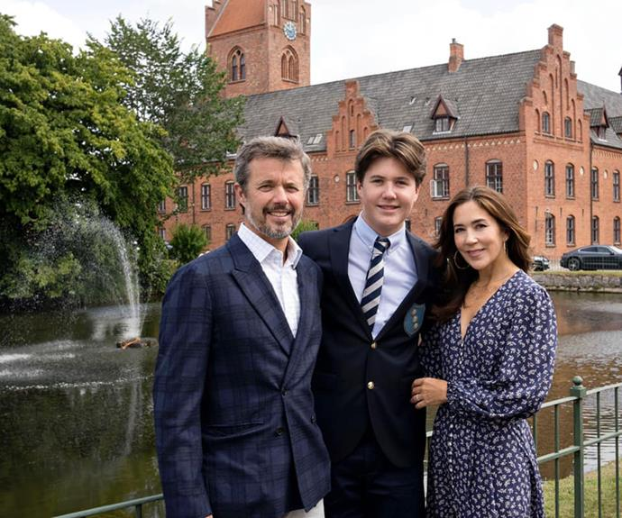 """He was front and centre again as he and Mary dropped off their son to begin his final years of schooling [at an elite Danish boarding school](https://www.nowtolove.com.au/royals/international-royals/prince-christian-of-denmark-boarding-school-68667 target=""""_blank"""")"""