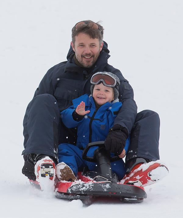 Fortunately he grew to love the trips, especially sledding with his dad.