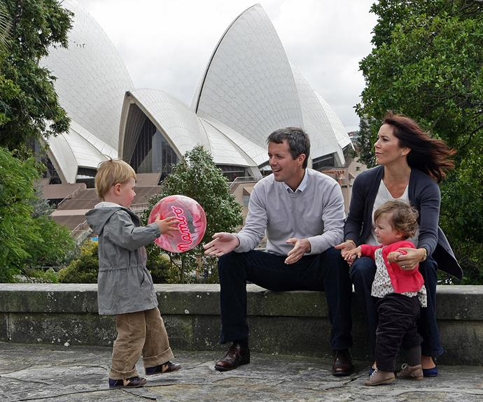 Here the growing family enjoy a day out on their first trip to Australia with Princess Isabella.