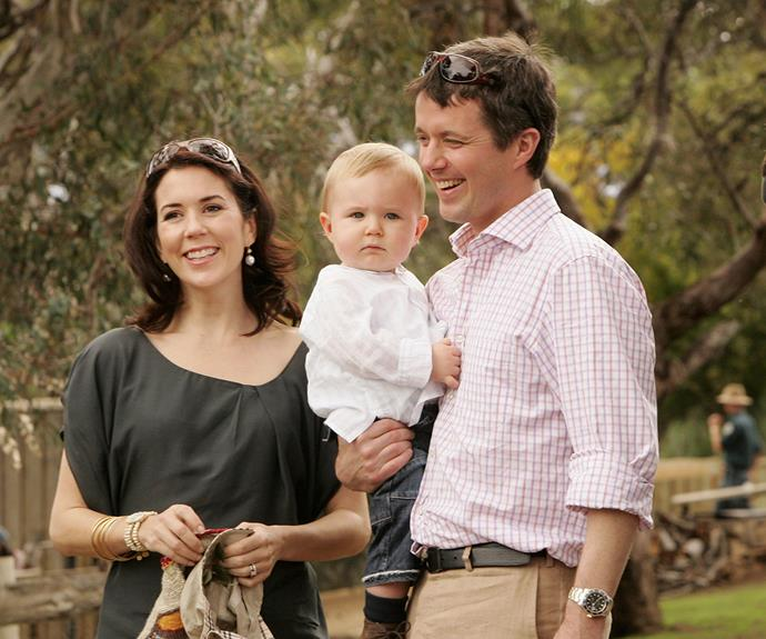 Frederik smiled at his son's milestones during a visit to Australia in Christian's early years.