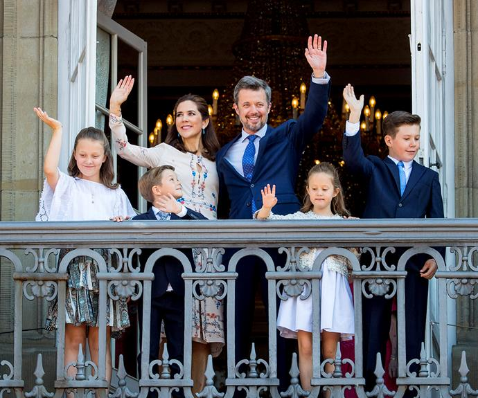 Prince Frederik is a proud dad of four.