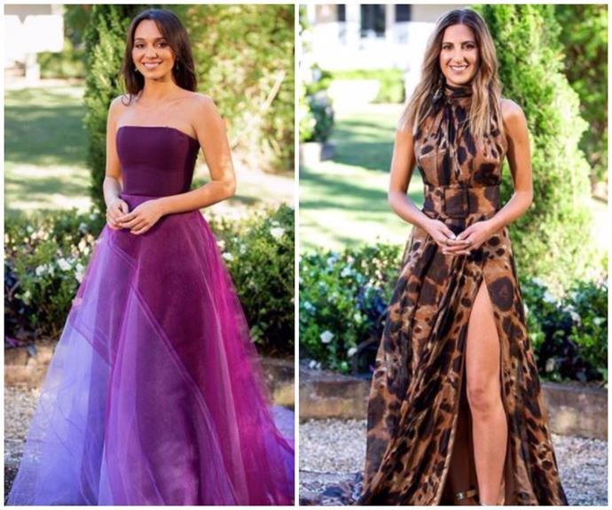 Bella and Irena in the 2020 season finale of The Bachelor.