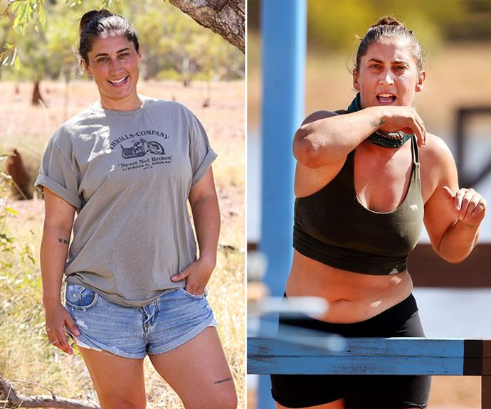 **Dani** <br> Dani was always one of the most physically intimidating women on the show, but even she lost some size during her stint on *Survivor*.